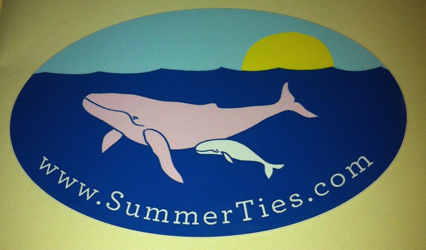 whale summer ties