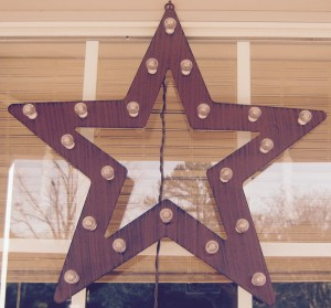 decorating with a star