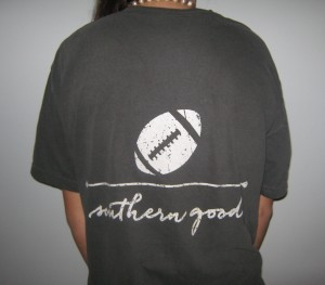 southern goods football tee