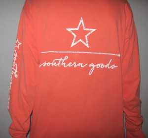 southern goods logo pocket tee