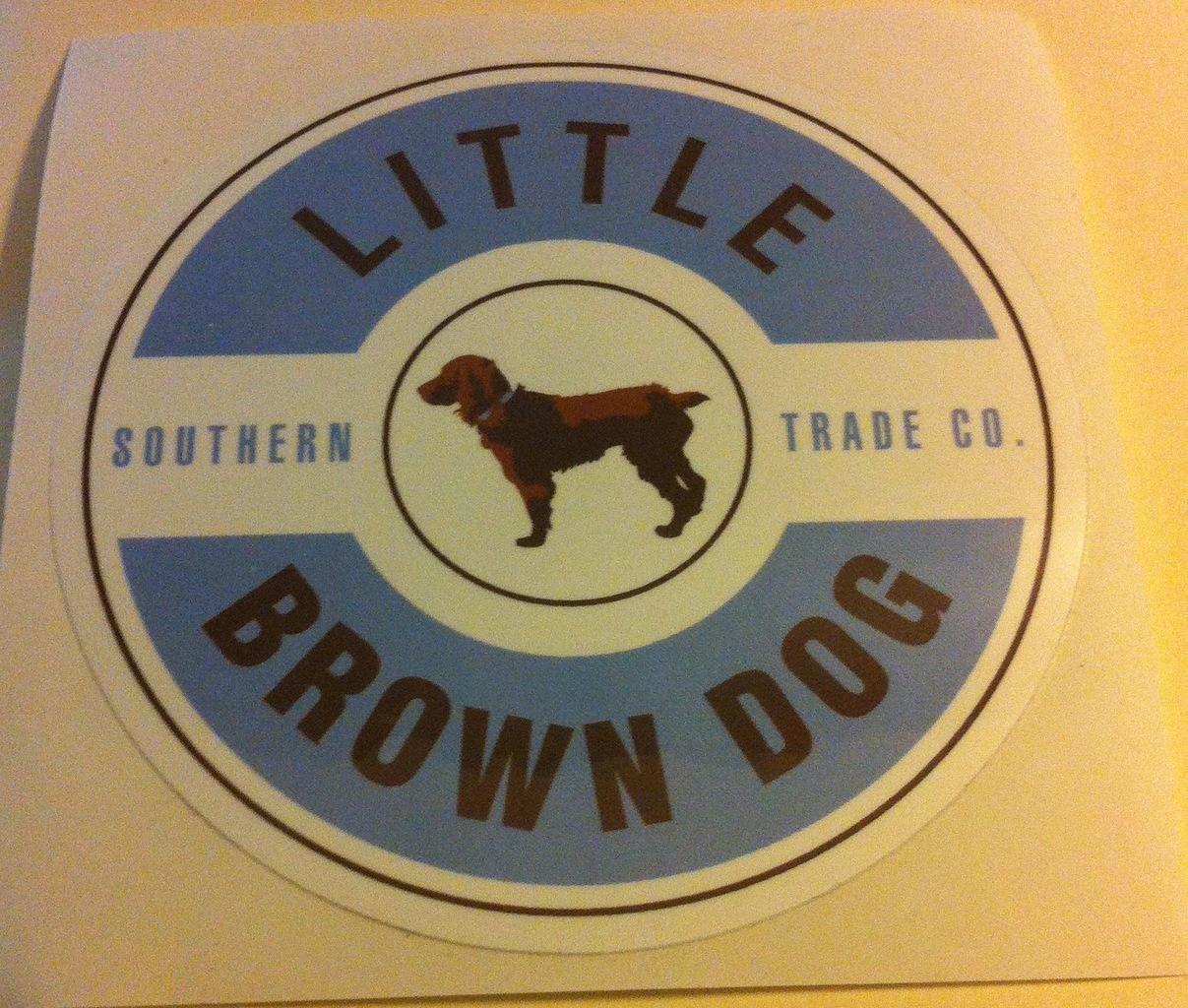 little brown sticker