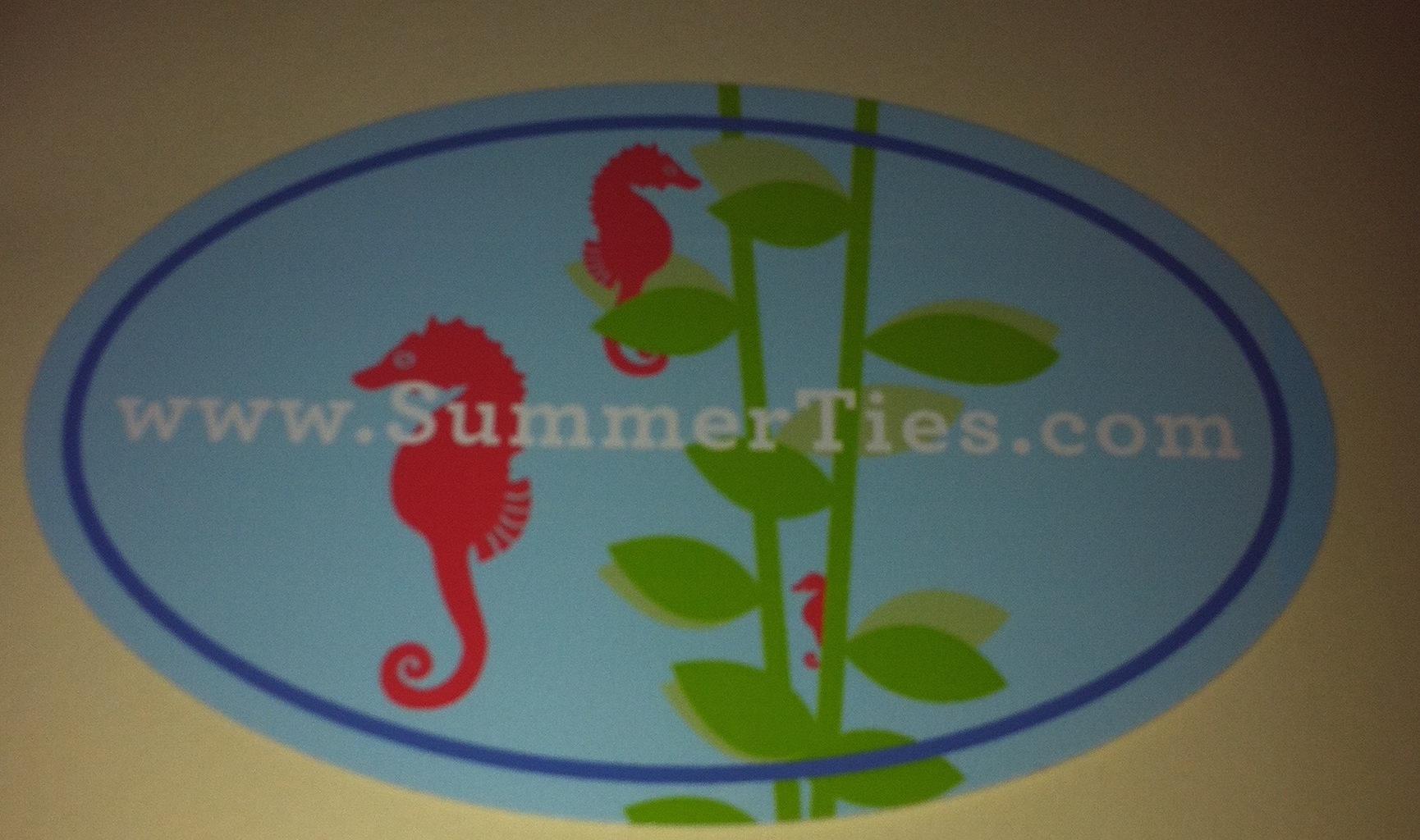 summer ties sticker